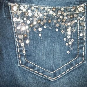 Miss Me Jeans - Miss Me Jeans Size 28x27 Sequined Pockets